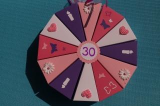 Geldgeschenkverpackung aus 300g Tonpapier  zum 30. Geburtstag , 52 Tolle Torte zum Geburtstag