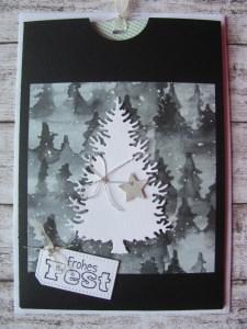 Weihnachtskarte - Ziehkarte - Handarbeit kaufen