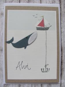 Grußkarte Ahoi