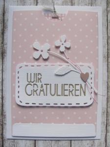 Glückwunschkarte - Ziehkarte - Handarbeit kaufen