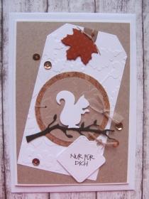 Glückwunschkarte Herbst - Handarbeit kaufen