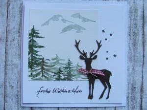 Weihnachtskarte XL - Handarbeit kaufen