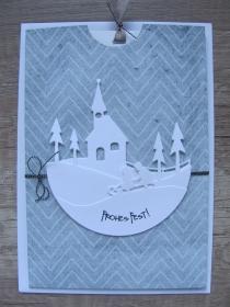 weihnachtliche Ziehkarte