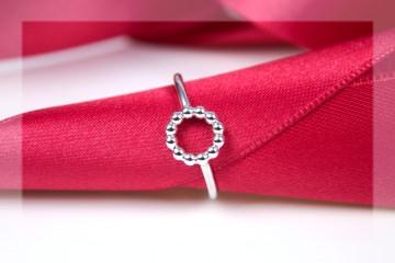 Ring 925/- Silber Kügelchenring Perldrahtkreis Handarbeit aus eigener Werkstatt