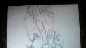 Anime-Boy gezeichnet