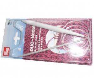 Duo - Nadel Rundstricknadel Stärke  4,0 und 10,0  für Schnellstricker  Länge 80 cm