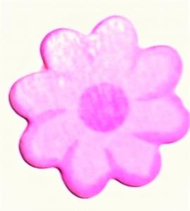 24 x Holzblume  4 cm in Rosa / Pink  zum Basteln oder als Streudeko