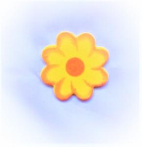 24 x Holzblume  4 cm in Orange  zum Basteln oder als Streudeko