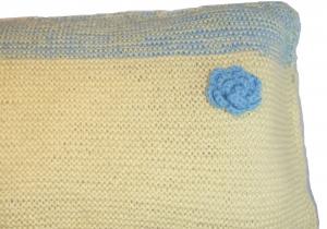 Kissenbezug handgestrickt  50 x 30 cm gestrickt Kissenbezüge handmade,  Kissenhülle handgefertigt
