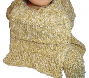 Schal gestrickt 24 cm breit 110 cm lang handgestrickt für Herren und Damen handmade Knit
