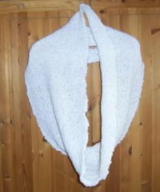 festlicher Cowl Schlauchschal  gestrickt Loop Rundschal Snood Knit Handmade handgestrickt