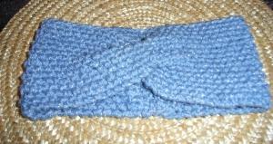 Gestricktes Stirnband  mit Twist  Haarband  KU 50 - 54 cm  knit Handmade headband Ohrwärmer
