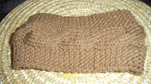 Gestricktes Stirnband  mit Zopfmuster  Haarband  KU 46 - 48 cm  knit Handmade headband Ohrwärmer