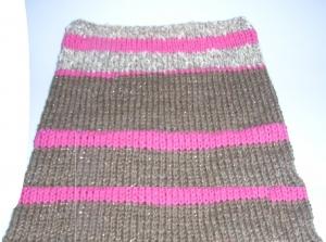 Rundschal Schlauchschal Cowl gestrickt bunt  Handmade Snood handgestrickt Knit Kragen
