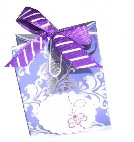 Geschenkschachtel * handgemacht *  für  kleine Geschenk 5 x 4 x 2 cm * lila