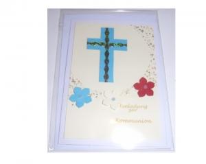 Einladungskarte zur Kommunion mit passendem weißen Kuvert- handmade