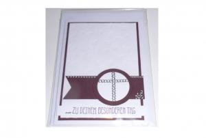 Karte zur Konfirmation / Kommunion  mit passendem weißen Kuvert- Schriftzug Zu Deinem Besonderen Tag