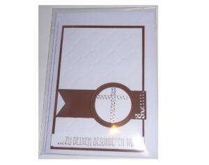 Karte zur Konfirmation / Kommunion  mit passendem weißen Kuvert - Schriftzug  Zu Deinem Besonderen Tag