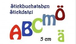 Stickdatei Stickbuchstaben-1 5 cm