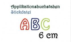 Stickdatei Applikationsbuchstaben1 6 cm