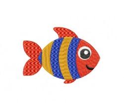 Stickdatei, Fisch 6x4 cm + 8x6 cm zum besticken von Handtüchern, TShirts