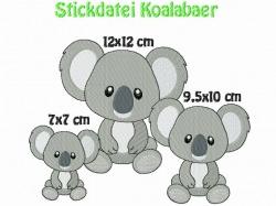 Stickdatei, Koalabaer,Koalabär zum besticken von Handtüchern, TShirts