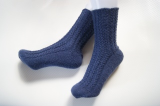 Socken Strümpfe Blau, Größe 38