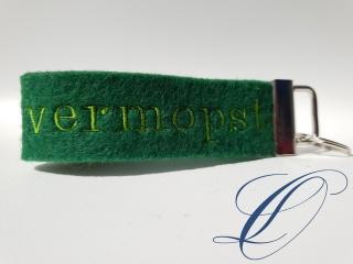 mopsiger Schlüsselanhänger vermopst grün