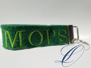 mopsiger Schlüsselanhänger MOPS grün