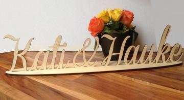 Namensschriftzug aus Holz groß