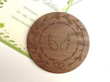 Gastgeschenk Hochzeit Untersetzer Holz Gravur