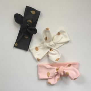 Baby Stirnband Haarband ** GOLDDROPS **  vom zimtbienchen in 3 Größen   - Handarbeit kaufen