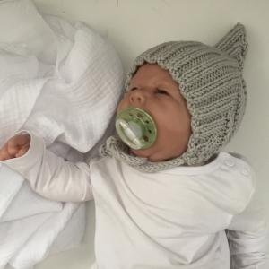 Babymütze **ZWERGLEIN** handgestrickt von zimtbienchen ab 36cm KU / verschiedene Farben
