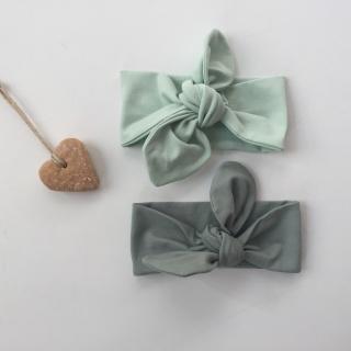 Baby Kinder Haarband Stirnband *MINT* 3 Größen  - Handarbeit kaufen