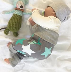Mitwachshöschen  **STERNCHEN**  Gr.50-80 Baby / Kind