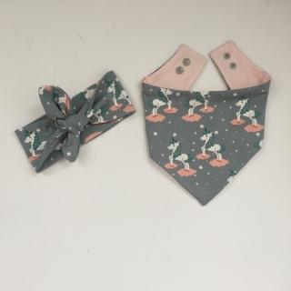 Baby Set *EINHORN* mit Stirnband und Halstuch für Baby / Kind - Handarbeit kaufen