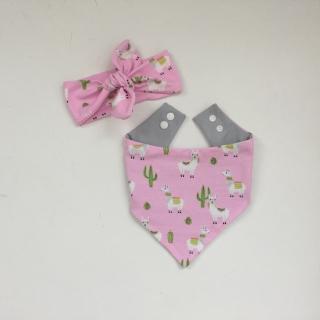 Baby Set *LAMA* mit Stirnband und Halstuch für Baby / Kind  - Handarbeit kaufen