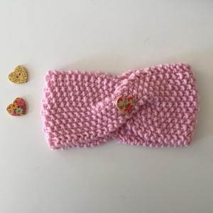 Mädchen Stirnband handgestrickt ** MARI ** vom zimtbienchen rosa ab 45cm KU