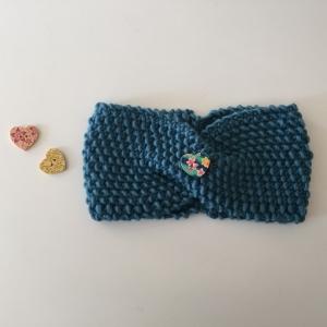 Mädchen Stirnband gestrickt **MARI** ab 45cm KU    - Handarbeit kaufen