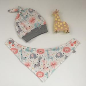 Neugeborenen Set * WILDLIFE * Halstuch und Mützchen für Baby  von zimtbienchen