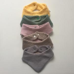 Halstuch aus Musselin BASIC individuelle Farbwahl vom zimtbienchen  Handarbeit  - Handarbeit kaufen