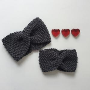 Baby Stirnband gestrickt ** MIRI ** 40 - 45cm KU  Handgestrickt von zimtbienchen   - Handarbeit kaufen
