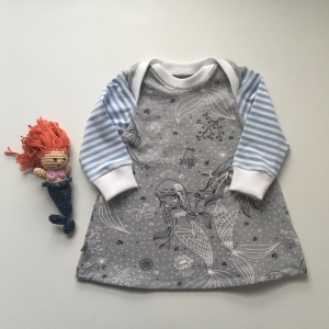 Kleidchen * MEERJUNGFRAU * ab Gr. 50  Baby / Kind mit Langarm Handarbeit von zimtbienchen