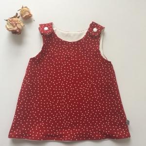 Trägerrock Kleidchen * DOTTIE * ab Gr. 68  Baby / Kind Handarbeit von zimtbienchen   BIOBaumwolle