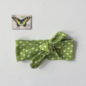 Haarband Stirnband grün *DOTTI* 3 Größen vom zimtbienchen Handarbeit für  Baby - Kind