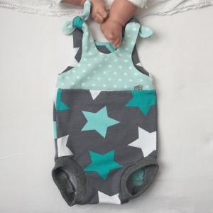 kurzer Baby Strampler * STAR * Jumper vom zimtbienchen  ab Gr. 50 handmade