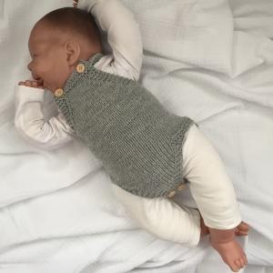 Strampler Baby * LASSE * Jumper handgestrickt vom zimtbienchen