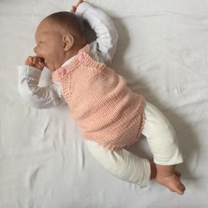 Baby Strampler  * Ylvi * Jumper Romper handgestrickt vom zimtbienchen