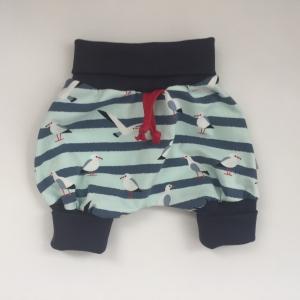 kurzes Pumphöschen AHOI MÖWE  handmade von zimtbienchen Gr.50 -104 Baby / Kind