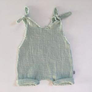 Baby Overall Jumper Romper  Modell HITZEFREI aus Musselin 5 Farben vom zimtbienchen für Mädchen und Jungen bis Größe 104